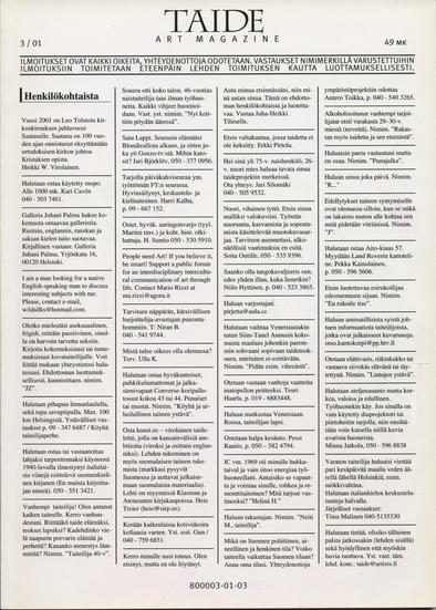 Taide-lehti - Artikkelit 6-10